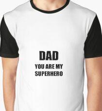My Superhero Dad Funny Gift Idea Graphic T-Shirt