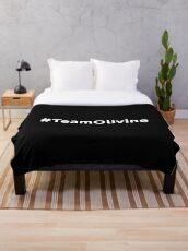 # Team Olivine  Throw Blanket
