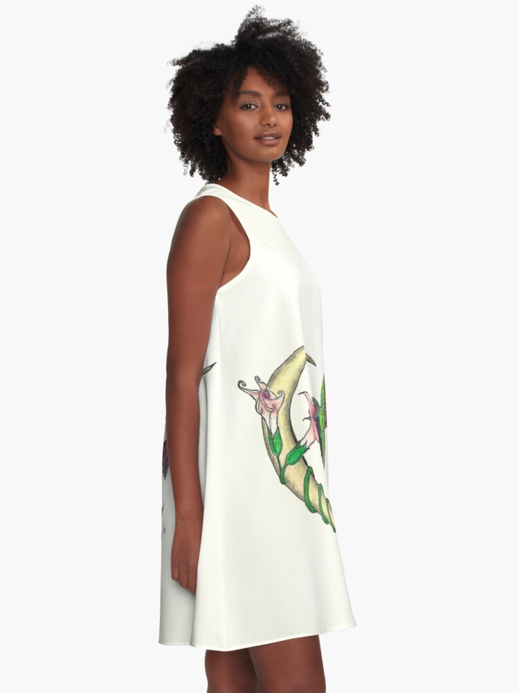Alternate view of Hummingbird - sweet nectar A-Line Dress