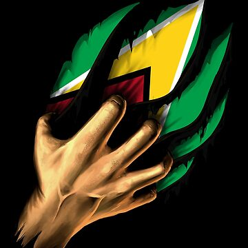 Guyanese in Me Guyana Flag DNA Heritage Roots Gift  by nikolayjs