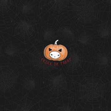Halloween Pumpkin Head Cat by runcatrun