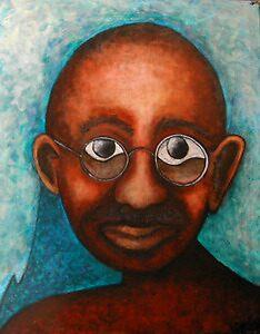 Mahatma Gandhi by jeffrey luepkes