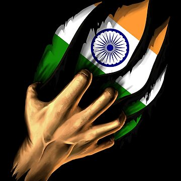 Indian in Me India Flag DNA Heritage Roots Gift  by nikolayjs