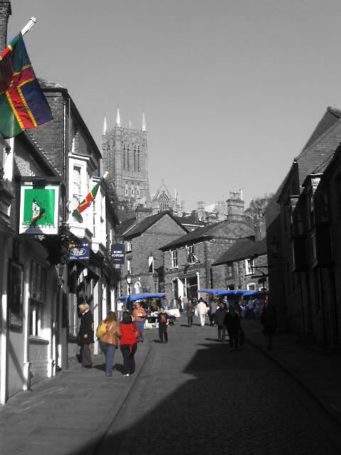 Steep Hill, Lincoln by CharcoalPoet