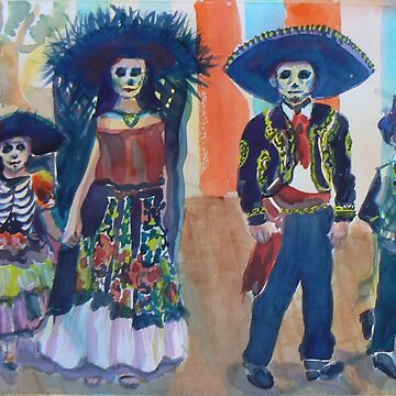 Day of the Dead watercolor by Naquaiya