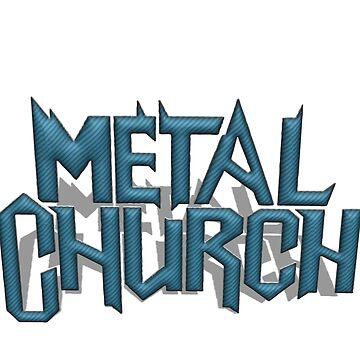 Metal Church - 3D Sticker Logo by tomastich85