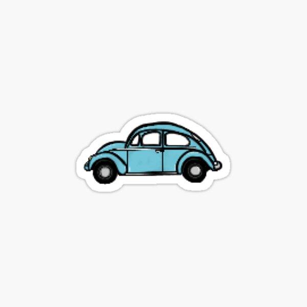 Blue Car Small Sticker