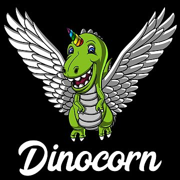 Dinocorn T-Rex Dinosaur Unicorn Magical Funny by underheaven