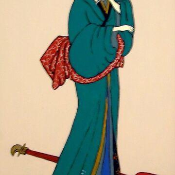 Geisha with Guitar by Shulie1
