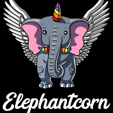 Elephantcorn Elephant Unicorn Magical Funny by underheaven