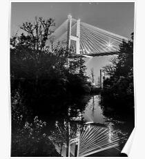 Talmadge Memorial Bridge Reflection Poster