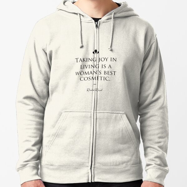 Rosalind Russell famous quote about beauty Zipped Hoodie