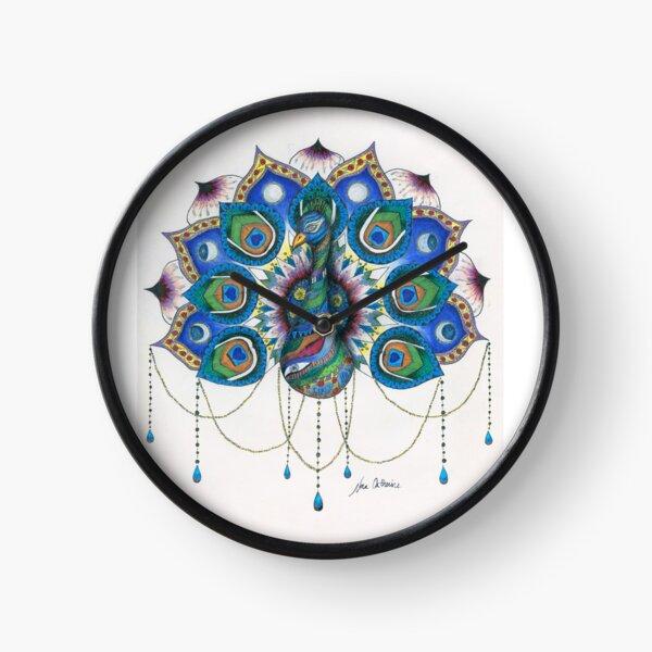 Peacock Mandala Clock