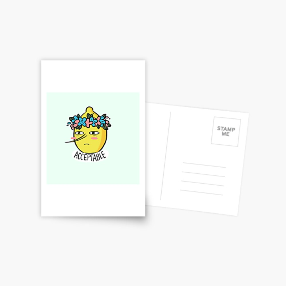Soft Lemongrab  Postcard