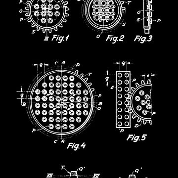 The Lego Patent Of Technic Gear Wheel In White Version by mecanolego