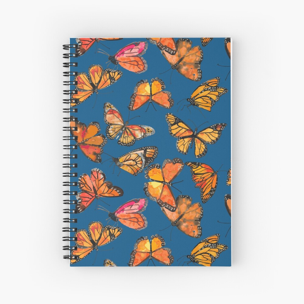Monarch Butterflies Fly Spiral Notebook
