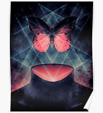 Beautiful Symmetry Surreal Butterfly Poster