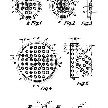 The Lego Patent Of Technic Gear Wheel In Black Version by mecanolego