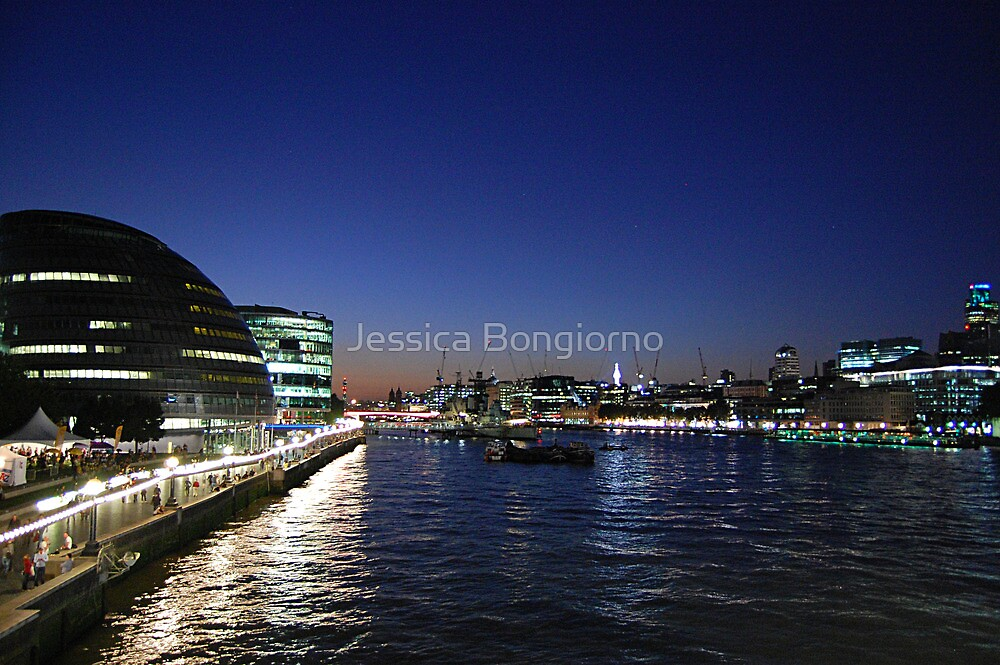 london at night by Jessica Bongiorno