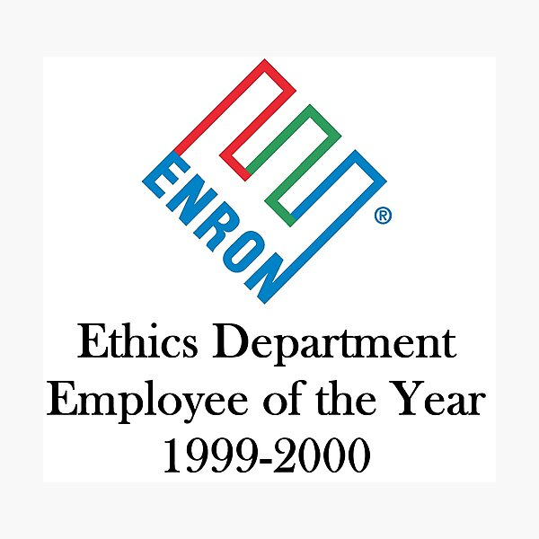 Enron ethics department satire/ parody  Photographic Print