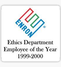 Enron ethics department satire/ parody  Sticker