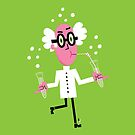Pink scientist drinking his experiment by Marcelo Badari