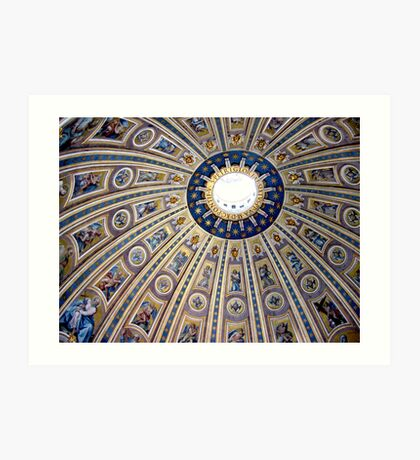 St Peter's dome, Vatican City Art Print