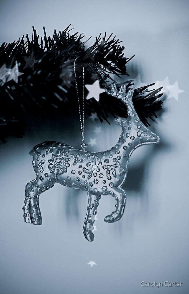 Sparkly Christmas Reindeer by Carolyn Carter