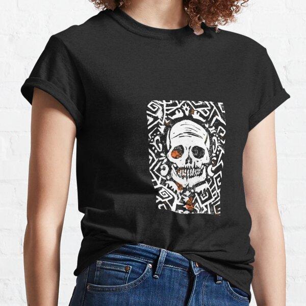 Spooky Scary Skeleton (Skull) Classic T-Shirt