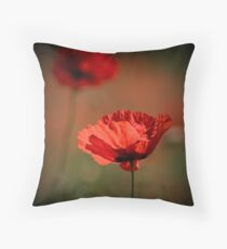 Poppy Twins Throw Pillow