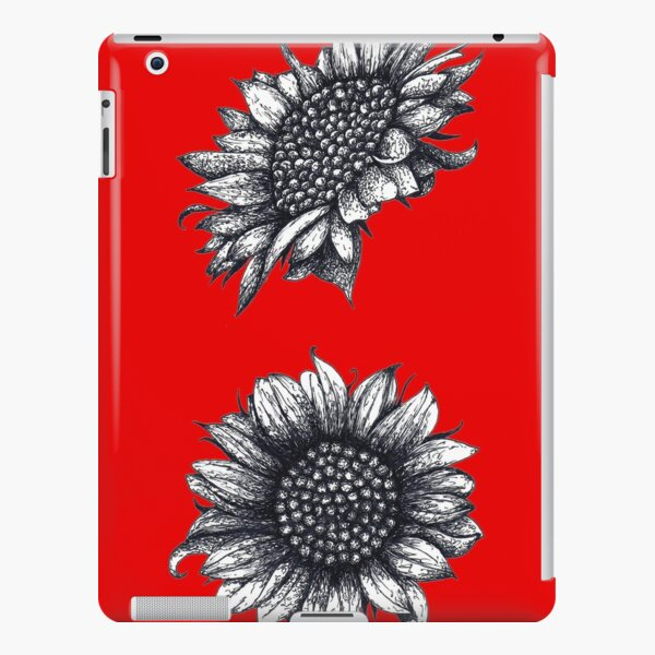 Black White Sunflowers iPad Snap Case