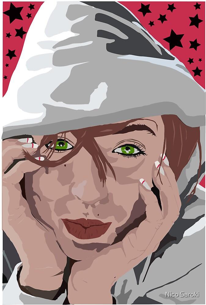 Illustration of my girlfriend Missy by Nico Saroki