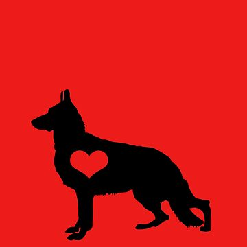 German Shepherd Heart Dog Breed  by JessDesigns