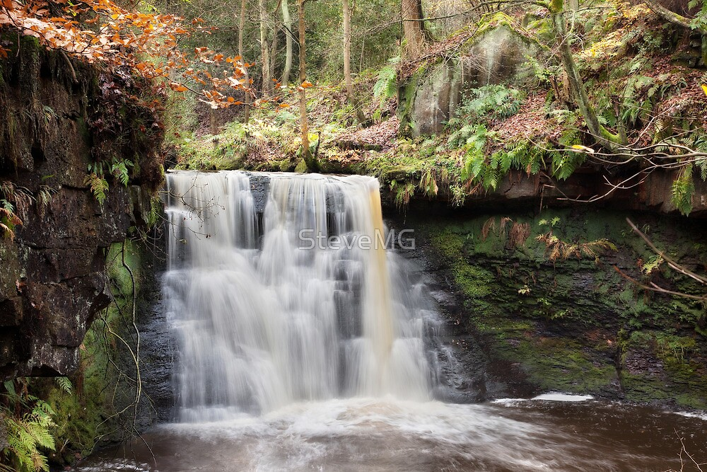 Goit Stock Waterfall - Autumn by SteveMG