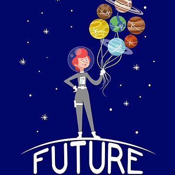 Future Astronaut With Planets T-Shirt Gift For Girls Cool Feminist by suvil
