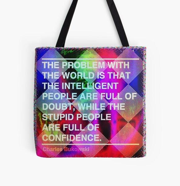 Intelligent vs Stupid All Over Print Tote Bag