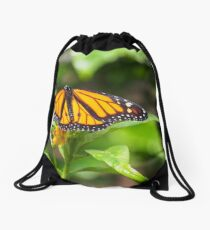 Resting Monarch Drawstring Bag