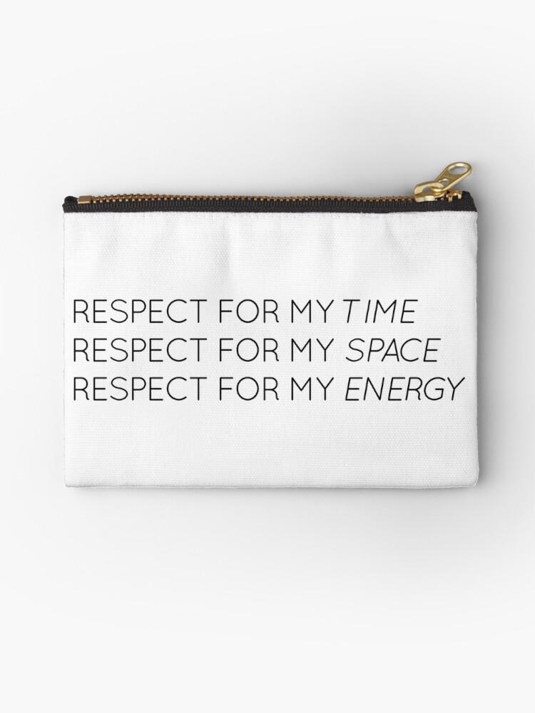 «Respeto por mi tiempo, espacio y energía» de tiffanyyen