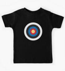 Bulls Eye, Target, MOD, Roundel, on BLACK Kids Clothes