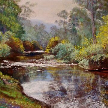 Autumn - Buckland River by Lyndarob