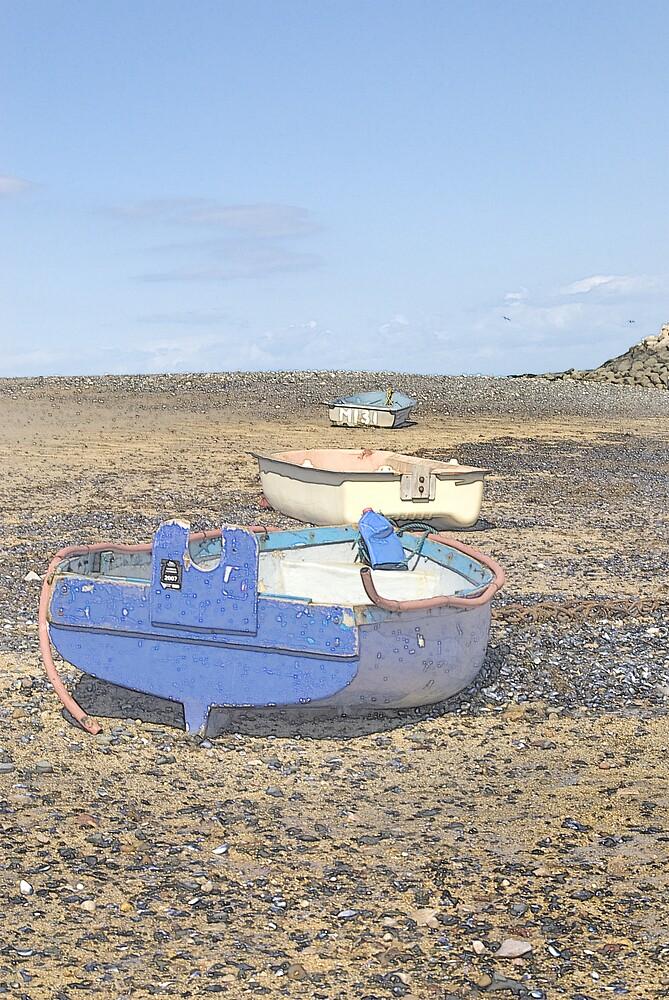 Boats in a Row by Kelvin Hughes