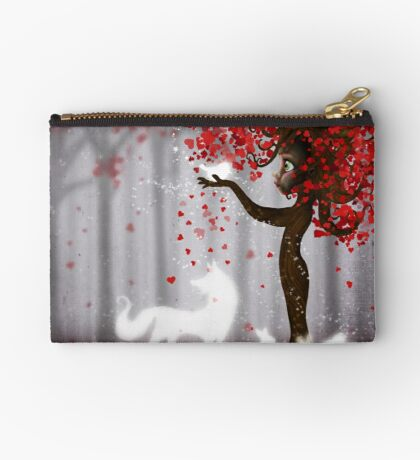 Magical Heart Tree Forest for Spirit Animals Studio Pouch