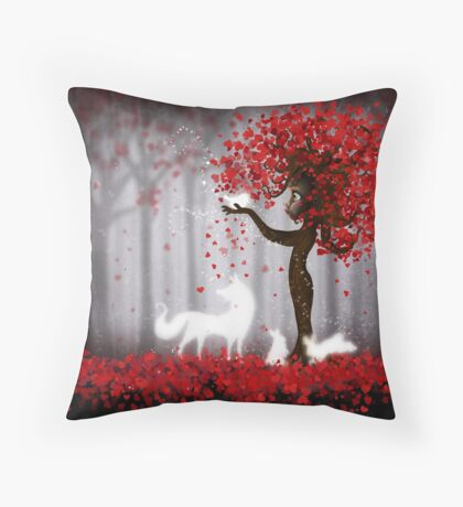 Magical Heart Tree Forest for Spirit Animals Floor Pillow