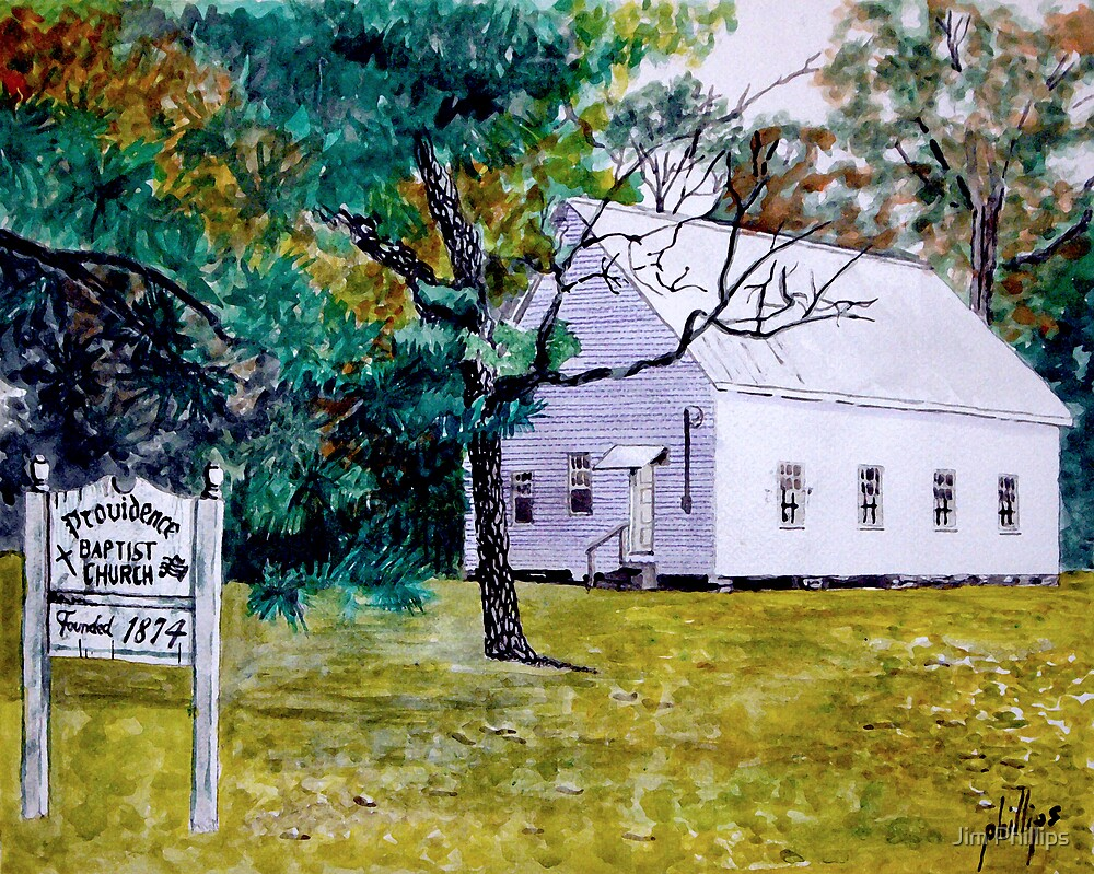 Providence Baptist Church 1874 by Jim Phillips
