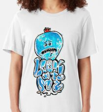 """Mr Meeseeks from Rick and Morty™ """"Look At Me"""" Retro Graffiti Throwback - Meeseeks and Destroy Slim Fit T-Shirt"""