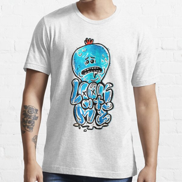 """Mr Meeseeks from Rick and Morty™ """"Look At Me"""" Retro Graffiti Throwback - Meeseeks and Destroy Essential T-Shirt"""