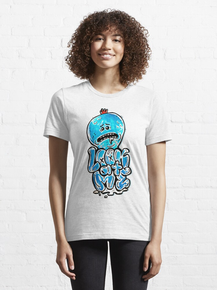 "Alternate view of Mr Meeseeks from Rick and Morty™ ""Look At Me"" Retro Graffiti Throwback - Meeseeks and Destroy Essential T-Shirt"