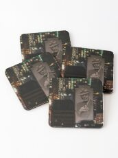 Montreal at Night Home of Leonard Cohen Coasters
