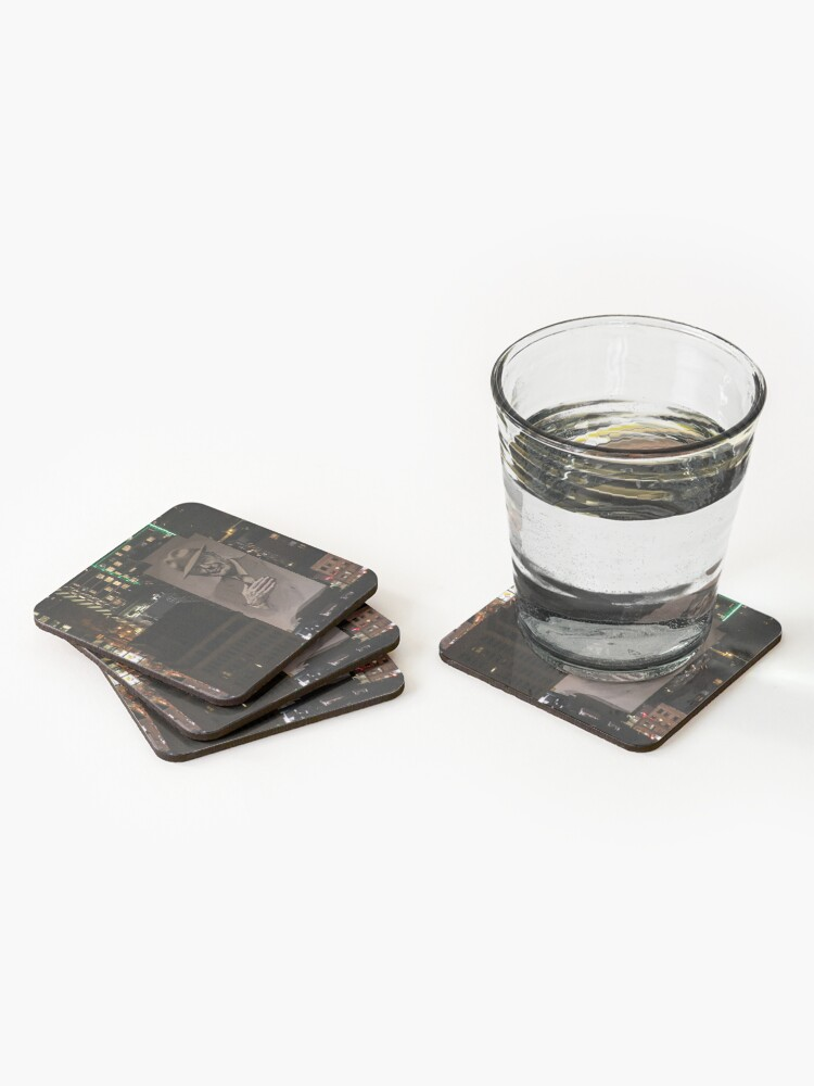 Alternate view of Montreal at Night Home of Leonard Cohen Coasters (Set of 4)