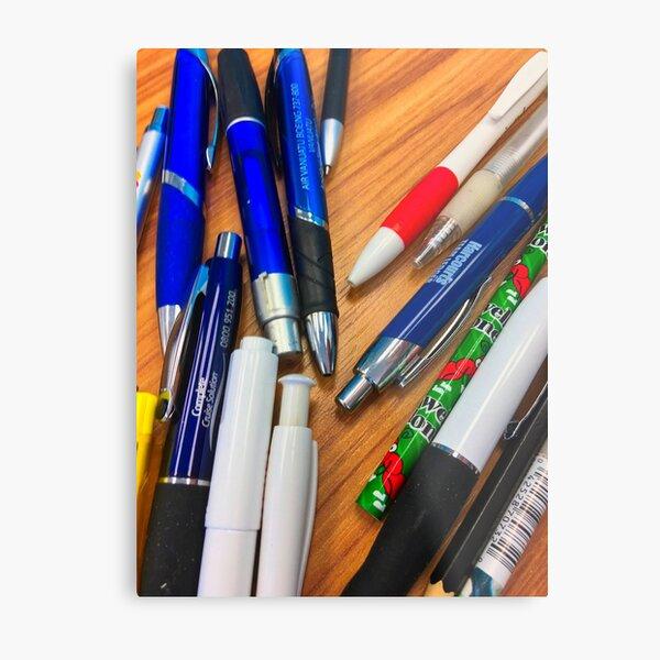 Pens On A Table Metal Print
